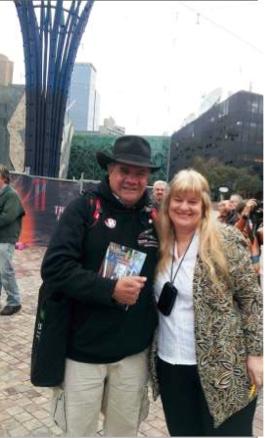 Prof Mick Dodson, AM & Barbara 26 May