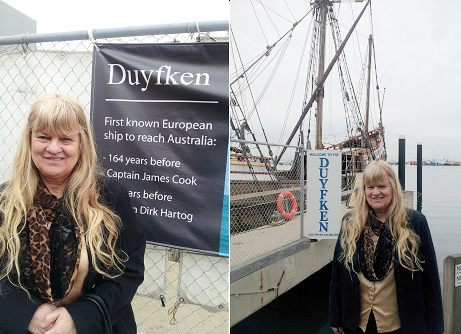 Left Pic-Photo of Barbara at Duyfken by Norman Miller June 29 Right Pic-Photo of Barbara at Duyfken by Norman Miller June 29