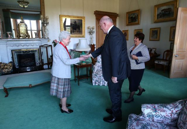 At Balmoral, the Governor-General and Lady Cosgrove attend an audience with Her Majesty The Queen, at which the Governor-General is invested as a Knight in the Order of Australia. photo: http://www.gg.gov.au/events/audience-her-majesty-queen