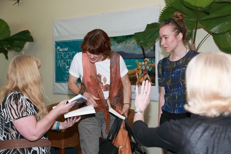 Handing my book on William Cooper to Geraldine Doogue